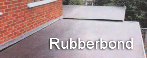 Rubber bond roofing